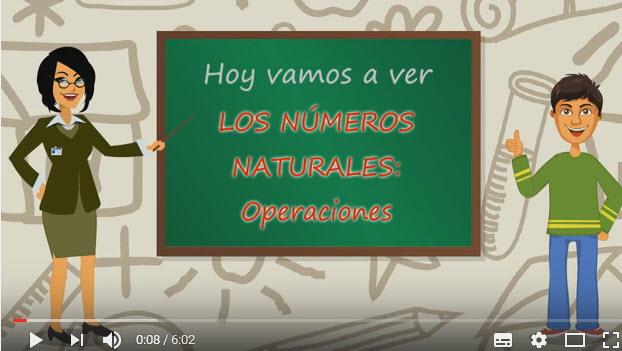 Los Números Naturales, Operaciones – 1 de la ESO